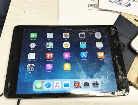 ガシャッ!iPadのガラスが割れた!ガラス割れ修理についてお教えします