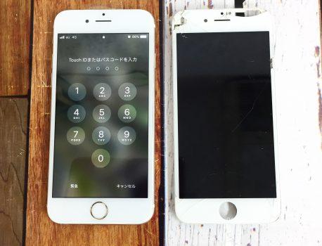 iPhoneの画面に縦線がでる!?