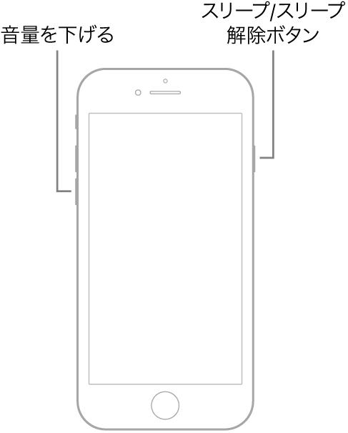 iPhone7シリーズの強制再起動