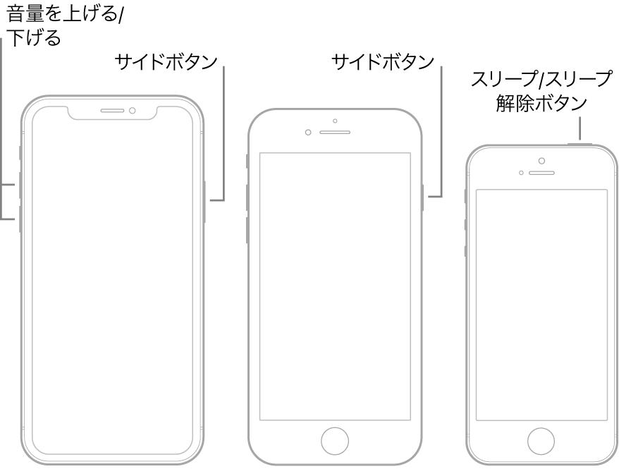 iPhoneシリーズの再起動手順