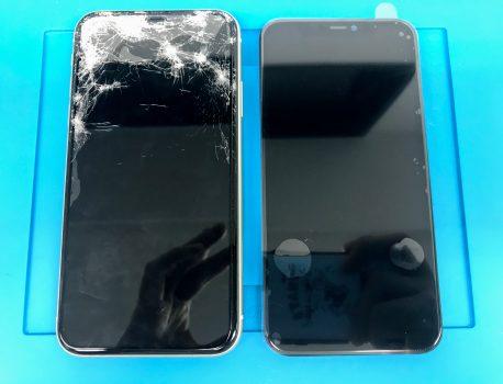 iPhone11の画面割れ・液晶破損のトラブルも即日でお直しします!【ガラスコーティングもオススメ】