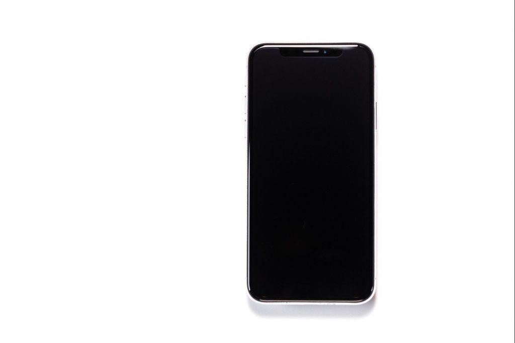 画面が真っ暗のiPhone