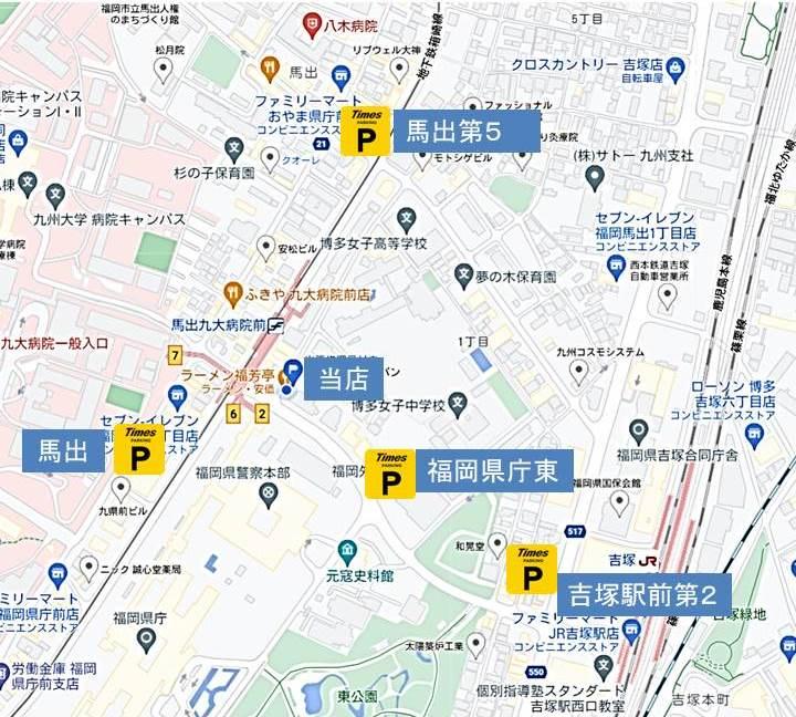 タイムズ駐車場の地図